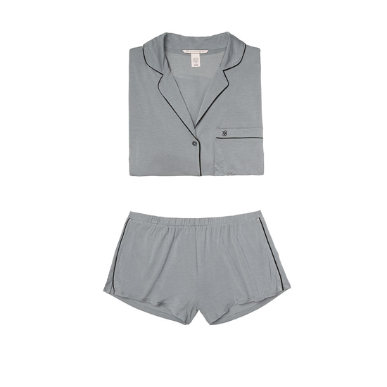 Cheap VICTORIA'S SECRET Sterling Pewter Supersoft Short PJ Set Online