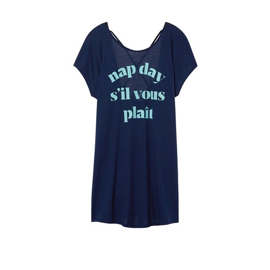 Cheap VICTORIA\'S SECRET Ensign/Nap Day Graphic NEW! The Crossback Angel Sleep Tee Online