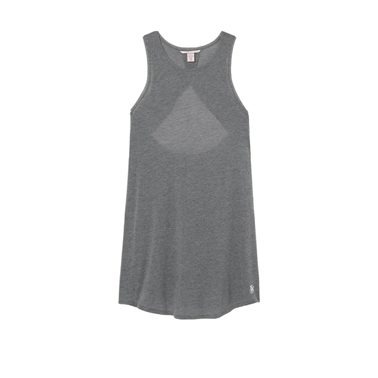 Cheap VICTORIA\'S SECRET Medium Heather Grey NEW! Open-back Slip Online