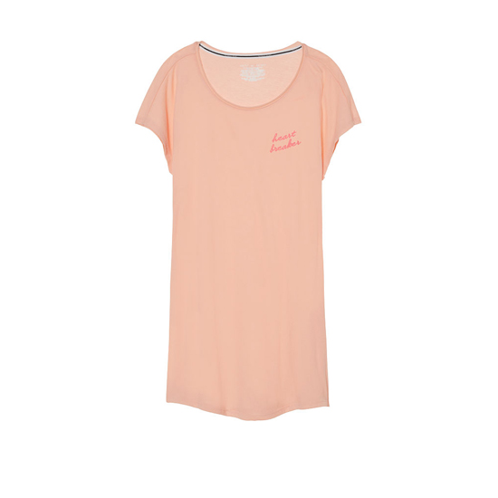 Cheap VICTORIA'S SECRET Peach Melba/Heart Breaker Graphic NEW! Angel Sleep Tee Online