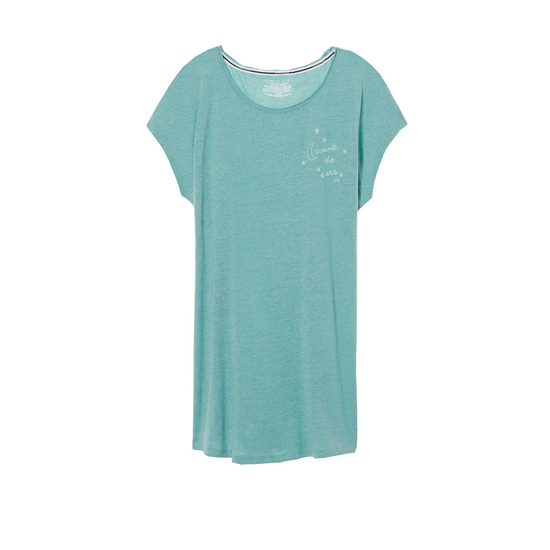 Cheap VICTORIA\'S SECRET Cozumel Teal/Count The Stars Graphic NEW! Angel Sleep Tee Online