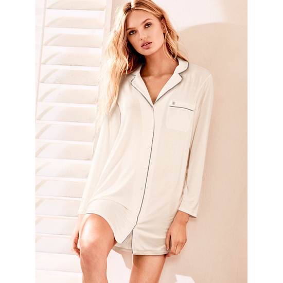 Cheap VICTORIA\'S SECRET Coconut White Supersoft Sleepshirt Online
