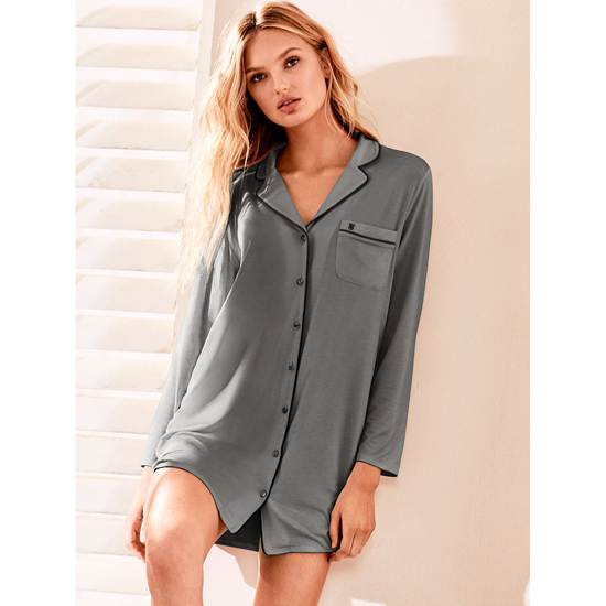 Cheap VICTORIA\'S SECRET Sterling Pewter Supersoft Sleepshirt Online
