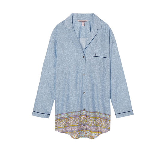 Cheap VICTORIA\'S SECRET Light Blue Placed Print NEW! The Mayfair Sleepshirt Online
