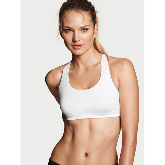 Cheap VICTORIA'S SECRET White NEW! Crossback Sport Bra Online