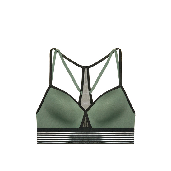 Cheap VICTORIA\'S SECRET Cadette Green Strappy Mesh Sport Bra Online