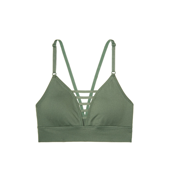 Cheap VICTORIA\'S SECRET Cadette Green NEW! Triangle Seamless Sport Bra Online