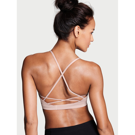 Cheap VICTORIA\'S SECRET Tinted Plum NEW! Lace-up Sport Bra Online