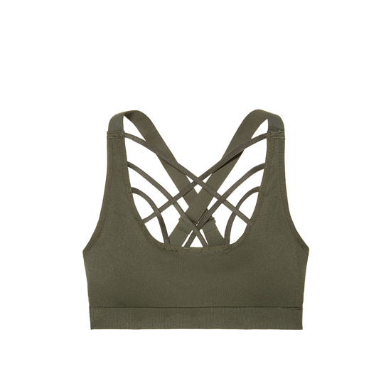 Cheap VICTORIA\'S SECRET Forest Night NEW! Strappy-front Seamless Sport Bra Online