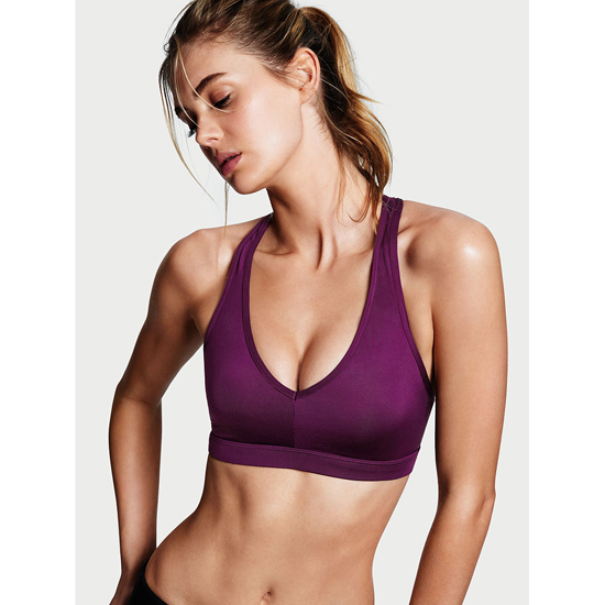 Cheap VICTORIA'S SECRET Grape Soda Caged Racerback Sport Bra Online