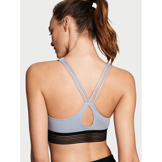 Cheap VICTORIA\'S SECRET Grey Oasis Monofilament NEW! Lightweight by Victoria Sport Bra Online