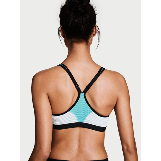 Cheap VICTORIA\'S SECRET Faded Denim/Blocked Curves NEW! Knockout by Victoria Sport Front-Close Sport Bra Online