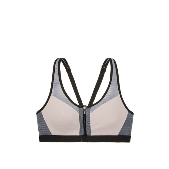 Cheap VICTORIA\'S SECRET Tinted Plum Mesh Curves NEW! Knockout by Victoria Sport Front-Close Sport Bra Online