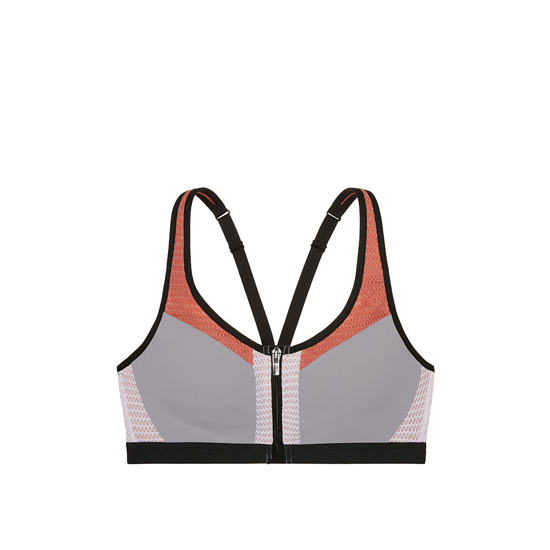 Cheap VICTORIA\'S SECRET Grey Oasis/Ginger Glaze Mesh Curves NEW! Knockout by Victoria Sport Front-Close Sport Bra Online