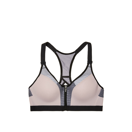 Cheap VICTORIA\'S SECRET Tinted Plum Mesh Curves NEW! Incredible by Victoria Sport Front-close Sport Bra Online