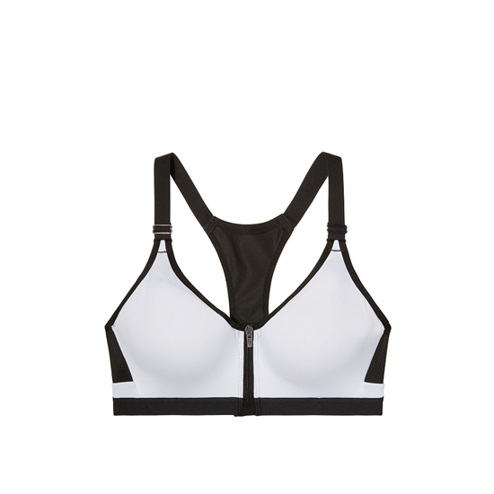 Cheap VICTORIA\'S SECRET White NEW! Incredible by Victoria Sport Front-close Sport Bra Online