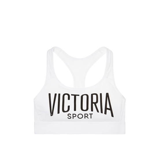 Cheap VICTORIA\'S SECRET White/Victoria Sport Logo/White Waistband NEW! The Player by Victoria Sport Racerback Sport Bra Online