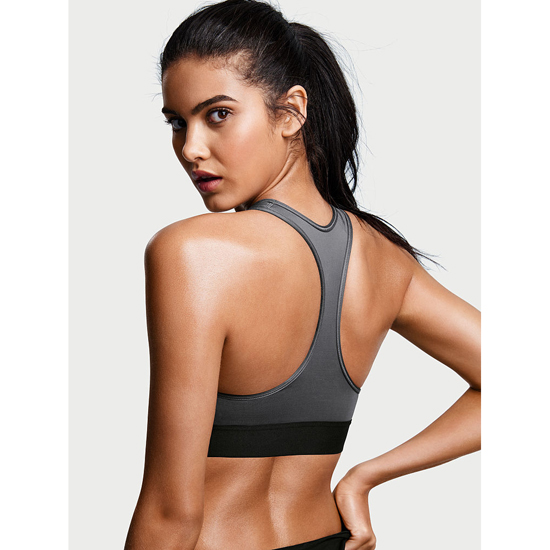 Cheap VICTORIA\'S SECRET Black Pearl NEW! The Player by Victoria Sport Racerback Sport Bra Online