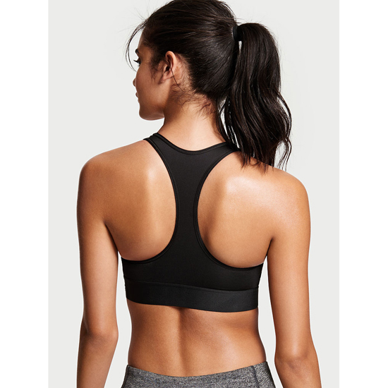 Cheap VICTORIA\'S SECRET Black NEW! The Player by Victoria Sport Racerback Sport Bra Online