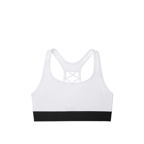 Cheap VICTORIA\'S SECRET White NEW! The Player Lace-Up Sport Bra Online