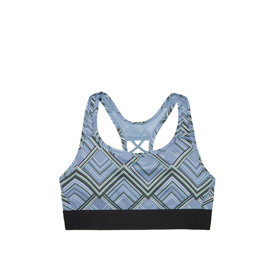 Cheap VICTORIA\'S SECRET Grey Traced Chevron NEW! The Player Lace-Up Sport Bra Online