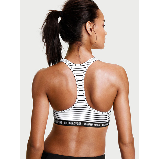 Cheap VICTORIA\'S SECRET Black/White Stripe NEW! The Player Plunge Sport Bra Online