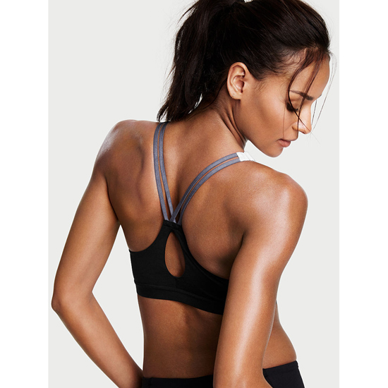 Cheap VICTORIA\'S SECRET Black Blocked Curves Lightweight by Victoria Sport Bra Online