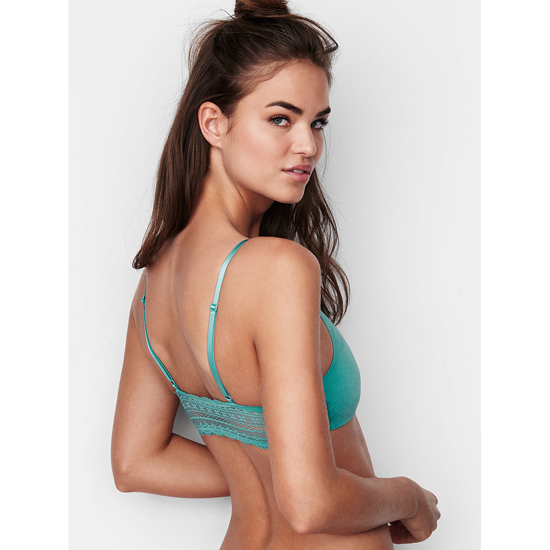 0dd2f4614bb Cheap VICTORIA S SECRET Cozumel Teal Lace Back Scoopneck Bralette Online