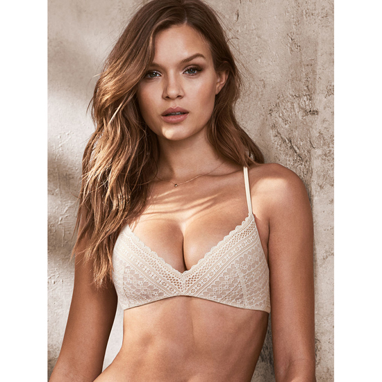 Cheap VICTORIA'S SECRET Coconut White Lace Lightly Lined Wireless Bra Online