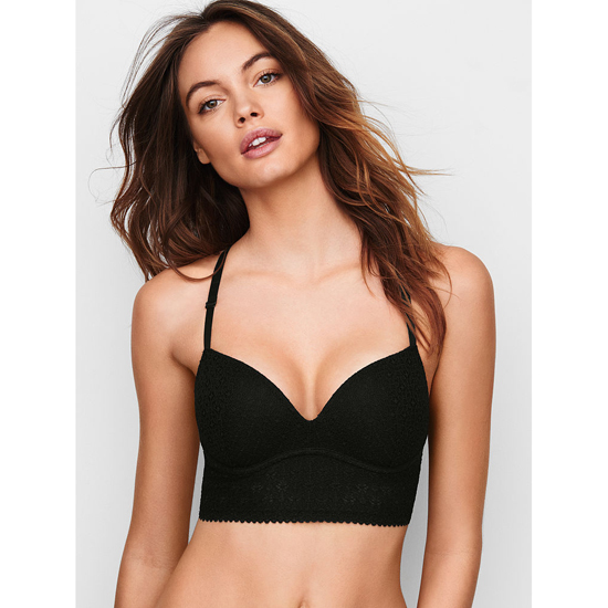 Cheap VICTORIA'S SECRET Black Lace NEW! Easy Push-Up Bra Online
