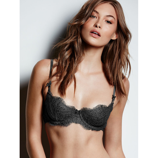 Cheap VICTORIA\'S SECRET Black Lace The Unlined Uplift Bra Online