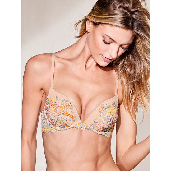 Cheap VICTORIA'S SECRET Gold Earth Solid Lace NEW! Push-Up Bra Online