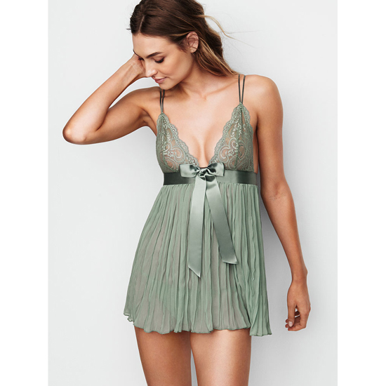 Cheap VICTORIA'S SECRET Silver Sea Pleated Babydoll Online