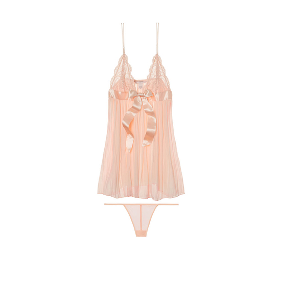 Cheap VICTORIA'S SECRET Pinky Cheeks NEW! Pleated Babydoll Online