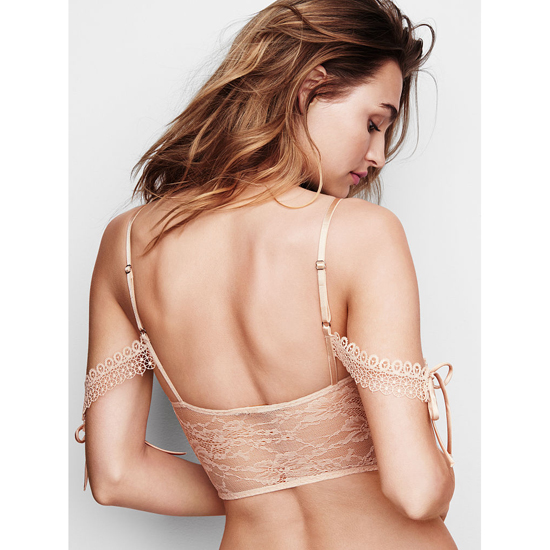 Cheap VICTORIA\'S SECRET Champagne NEW! Lace Off-the-Shoulder Bustier Online