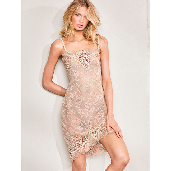 Cheap VICTORIA'S SECRET Sugar Cookie NEW! Crochet Lace Slip Online