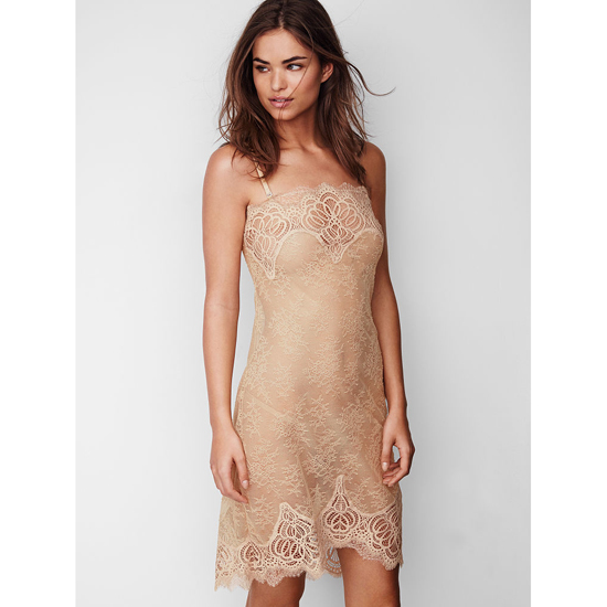 Cheap VICTORIA\'S SECRET Sugar Cookie NEW! Crochet Lace Slip Online