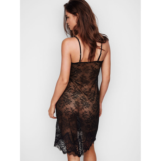 Cheap VICTORIA'S SECRET Black NEW! Crochet Lace Slip Online