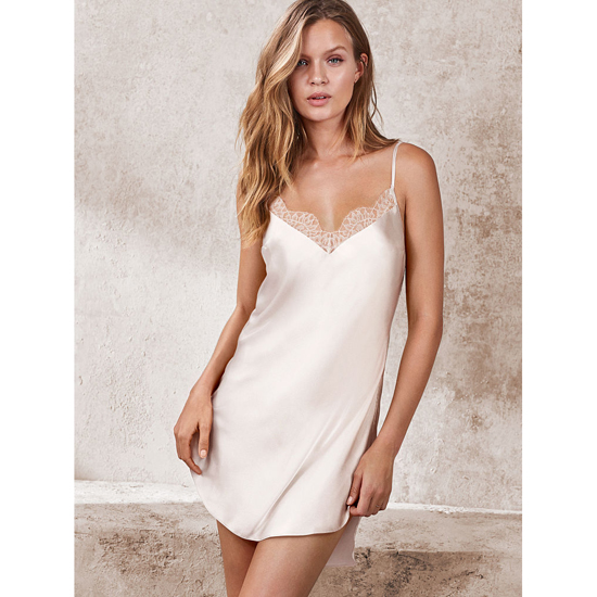 Cheap VICTORIA'S SECRET Coconut White NEW! Lace-trim Satin Slip Online