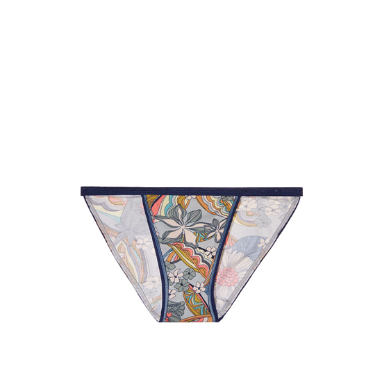 Cheap VICTORIA\'S SECRET Blue Summer Florals Print String Bikini Panty Online