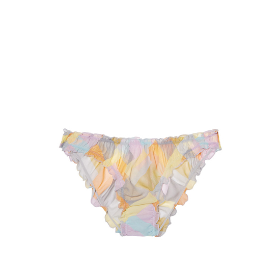 Cheap VICTORIA'S SECRET Multi Patchwork Print NEW! Ruffled Cheekini Bloomer Panty Online
