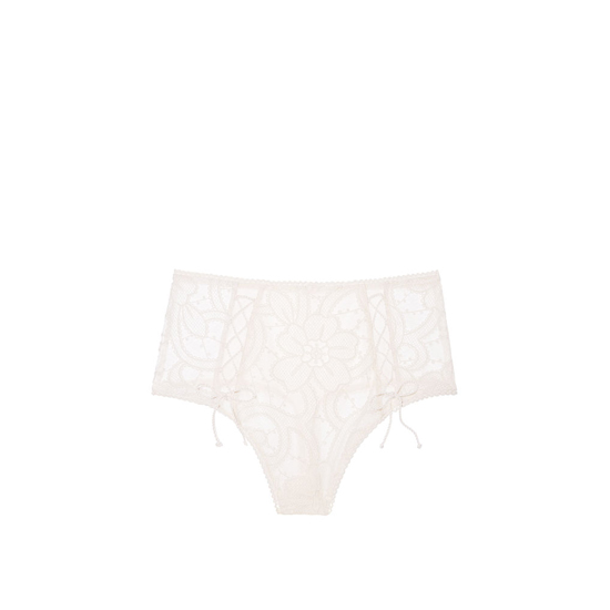 Cheap VICTORIA'S SECRET Coconut White NEW! Lace High-waist Thong Panty Online