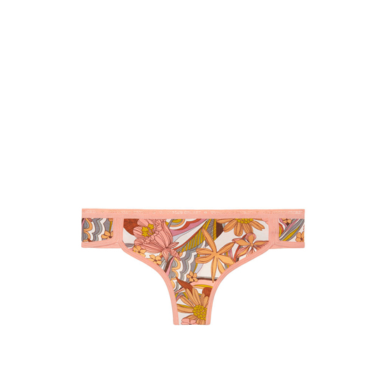Cheap VICTORIA\'S SECRET Summer Floral Print NEW! Curved-hem Thong Panty Online