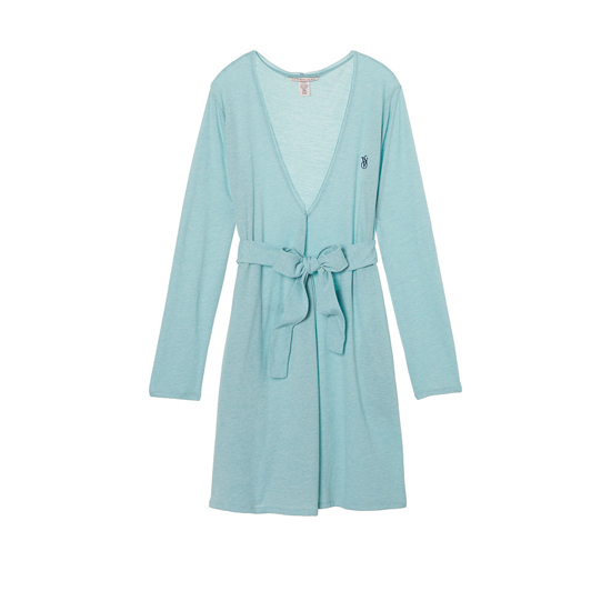 Cheap VICTORIA'S SECRET Cozumel Teal NEW! Sleepover Knit Robe Online