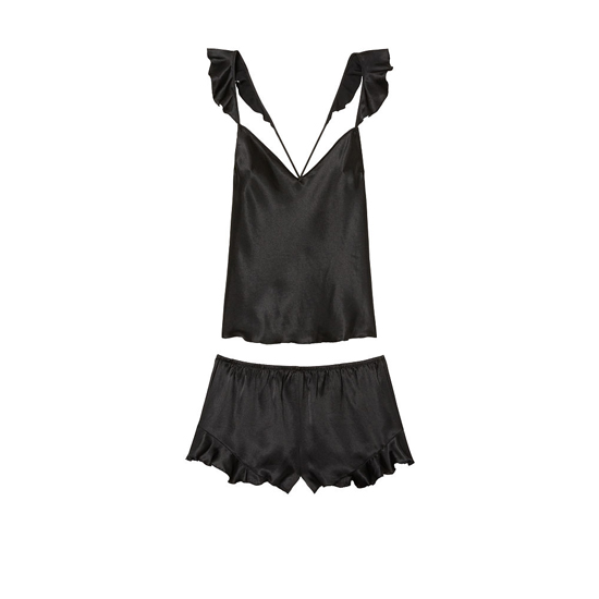 Cheap VICTORIA'S SECRET Black NEW! Satin Cami & Short Set Online