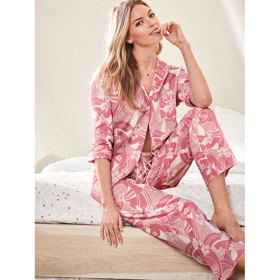 Cheap VICTORIA'S SECRET Rosy Mauve Floral NEW! The Mayfair Pajama Online