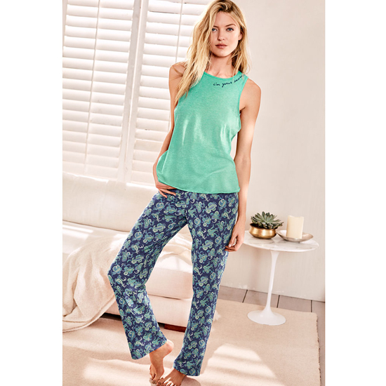 Cheap VICTORIA\'S SECRET Maldive/Aqua Paisley NEW! The Pillowtalk Tank Pajama Online