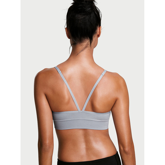 Cheap VICTORIA\'S SECRET Grey Oasis NEW! Triangle Seamless Sport Bra Online