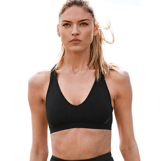 Cheap VICTORIA'S SECRET Black NEW! The Player Plunge Sport Bra Online