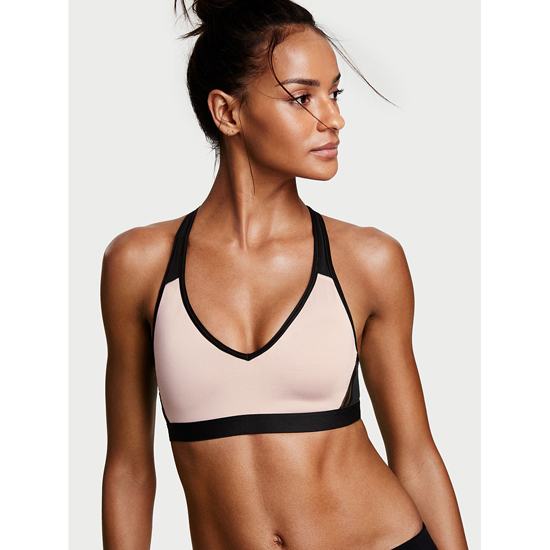 Cheap VICTORIA'S SECRET Tinted Plum NEW! The Player Plunge Sport Bra Online